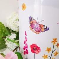 Butterfly Garden Biscuit Tin